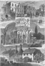 FULHAM. In and about Fulham. London c1880 old antique vintage print picture